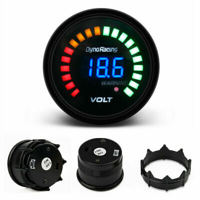 "2"" 52mm Digital Analog LED Electronic Auto Car Voltage Gauge Volt Meter Smoked"