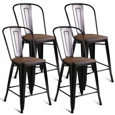 Swell Counter Stools Set Of 2 Wood Metal Rustic Gunmetal Forskolin Free Trial Chair Design Images Forskolin Free Trialorg