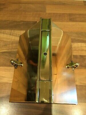 Vintage Brass 1930's Ships Bulkhead Wardroom Lamp Light Maritime Marine Nautical