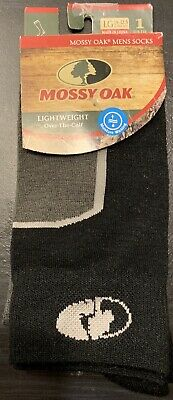 Mossy Oak Mens Lightweight Moisture Wicking Grey Socks Size Large 9-12