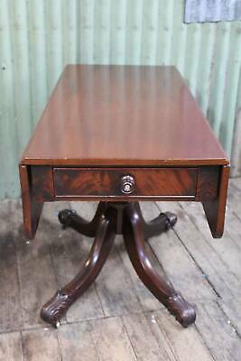 A Victorian Mahogany Pembroke Table on Claw Feet - Drop Side Table