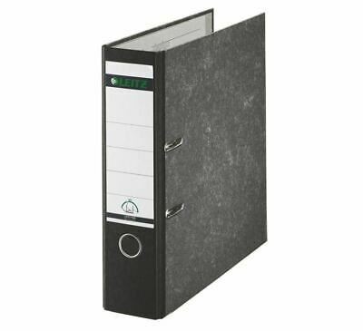 Leitz Paper-on-Board Lever Arch File A4 80mm Black PK10