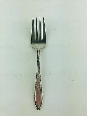 "Wm Rogers International Silver Victory Silver Plate Salad Dessert Fork 6"" 1927"