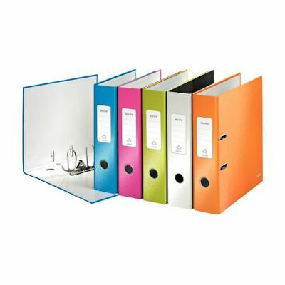 Leitz Wow Lever Arch File A4 80mm Assorted 10050099 (PK10)