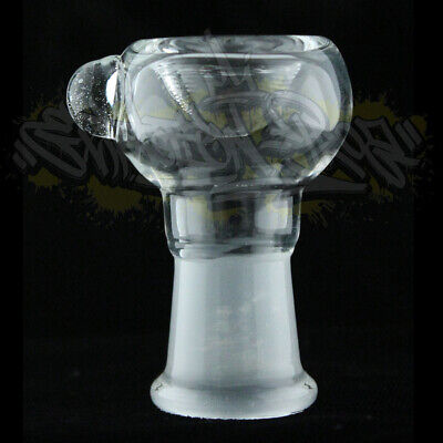 Clear Pyrex Bubble Reverse Female Glass on Glass Art Slide Bowl 14mm 18mm