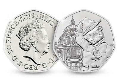 2019 PADDINGTON BEAR AT St Paul's Cathedral 50p COIN IN A FOAM CAPSULE
