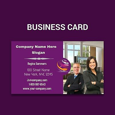 Full Color Business Cards W/ Your Artwork Ready To Print - 2 Sided Glossy