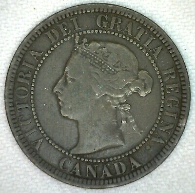 1886 Canada Large Cent Victoria One Cent Bronze You Grade KJ15
