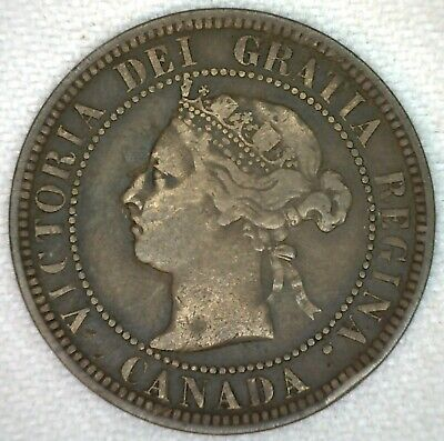 1886 Canada Large Cent Victoria One Cent You Grade KJ14