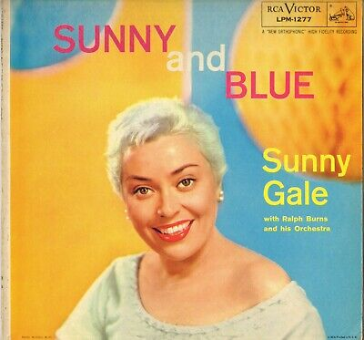 """Sunny Gale """"Sunny And Blue"""" Pop Vocal Jazz 50'S Lp Rca Victor 1277"""