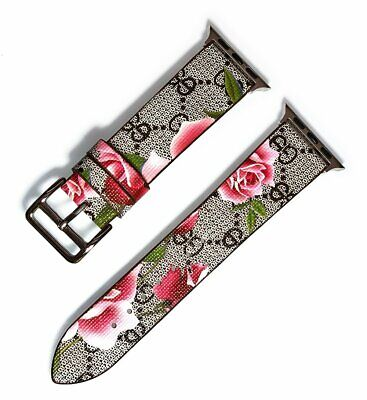 Designer Apple watch band GG blooms series 1 2 3 4 5 38mm 40mm 42mm 44mm 22mm