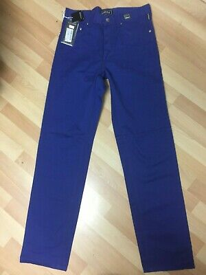 NWT BOYS VERSACE COUTURE MADE in ITALY Chino Jeans BLUE W28 L34 H7.5 RRP£699