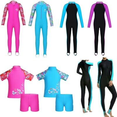 Kids Baby Girls Rash Guard Swimsuit Bath Surfing Swimming Swimwear Beach Costume