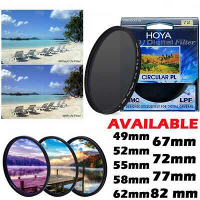 HOYA HD UV Circular Polarising Slim Filter CPL Camera Lens 49-82mm