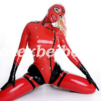 New Latex Catsuit Full Body 100% Rubber Hood Men 0.4mm Cosplay 2019 Size S-XXL