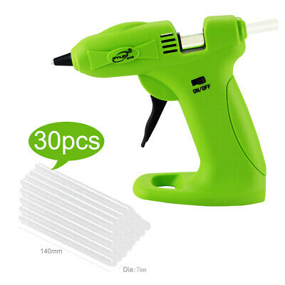 Cordless Hot Melt Glue Gun Heater Rechargeable Battery + 30pcs Glue Sticks DIY