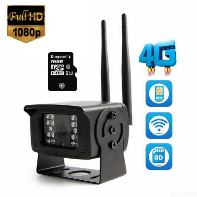 4G SIM Card HD 1080P Wireless IP Camera Remote Monitoring WiFi Motion Waterproof