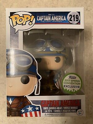 NEW Funko POP! Captain America (WWII) 2017 ECCC Convention Exclusive - US SELLER