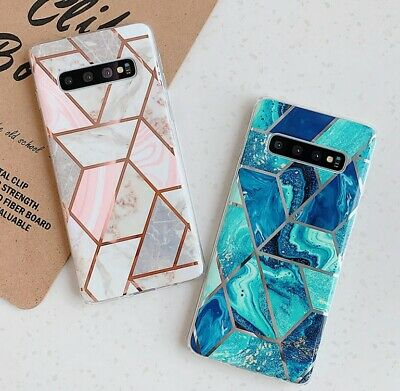 For Samsung S10 Plus S9 S8 Soft TPU Case Marble Shockproof Silicone Gel Cover