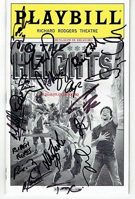 CORBIN BLEU ~ and CAST ~ signed PLAYBILL: IN THE HEIGHTS