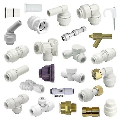 10MM/15MM/22MMJohn Guest SpeedFit Push Fit Elbow/Tee/Couping/StopEnd/Valves/pipe