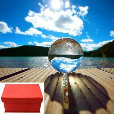 Glass Clear Crystal Ball Healing Sphere Photography Props Lensball 80mm N3M2E