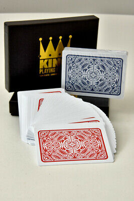 "King ""Prestige"" 100% Plastic Playing Cards Twin Pack - Poker Size - Jumbo Index"