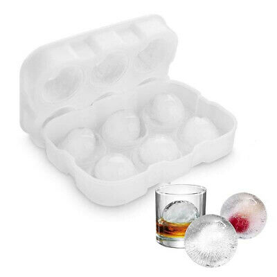 Large Whiskey Round Ice Balls Maker Tray 6 Sphere Mould Cube  Cocktails Tool