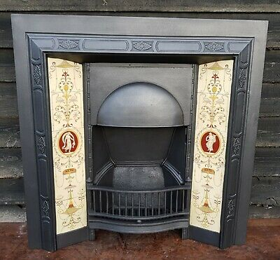 Original cast Iron Fireplace With Minton Tiles - Fully Restored