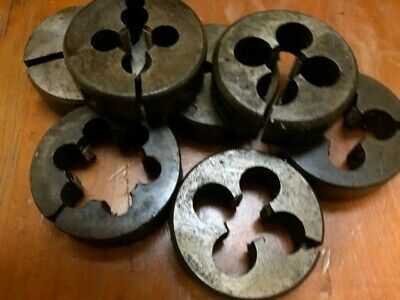 "Aussie P&N 2"" split die button BSF 1/4 5/16 3/8 7/16 1/2 9/16 5/8 3/4 7/8"" 1"""
