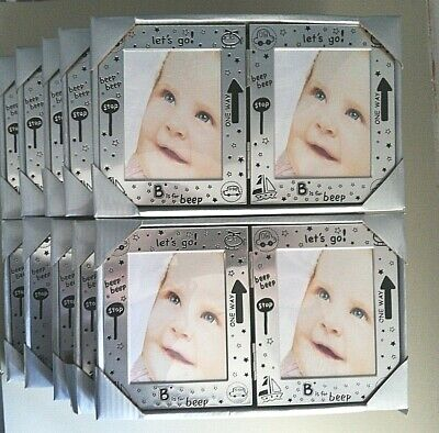 10No Baby Double Hinged Opening Photo Picture Frame Unisex