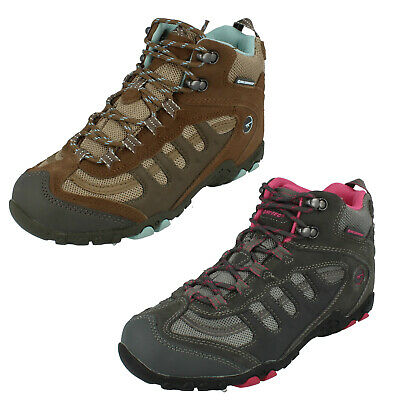 Ladies Penrith Mid WP Womens Lace Up Walking Hiking Boots By Hi-Tec £35.00