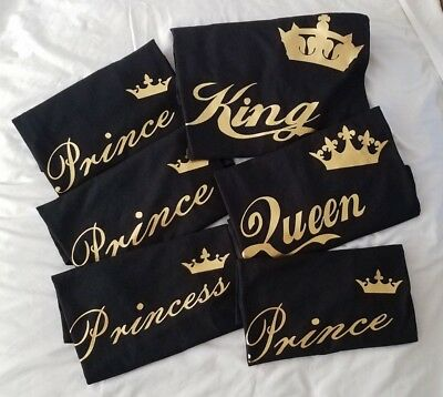 King Queen Tshirt GOLD Prince Princess Family Matching Disney Vacation Shirt