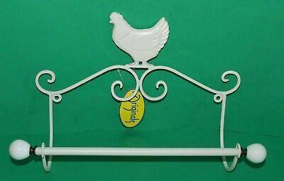 New Shabby Country Chic Chicken Kitchen Roll Holder
