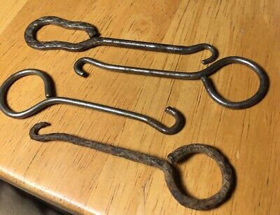 Vintage Antique Lot Boot Shoe Lace Button Hook Handforged OLD Different Styles