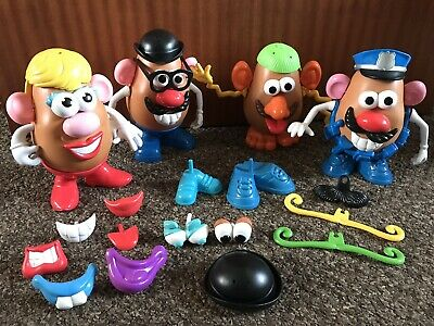 Vintage 1985 Mr Potato Mrs Potato Head Accessories Bundle Nostalgia Playskool