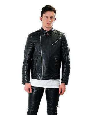 Bockle Fashion Black Men's Leather Jacket from Lamb Leather