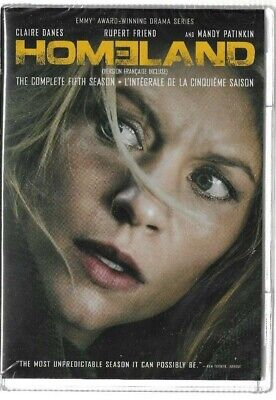 Sealed DVD TV SERIES  - HOMELAND SEASON 5 -  Also In French