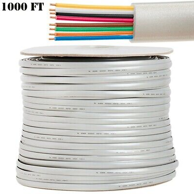 Eagle 100 Ft 6 Conductor Phone Modular Telephone Cable Flat Silver 28 AWG Wire