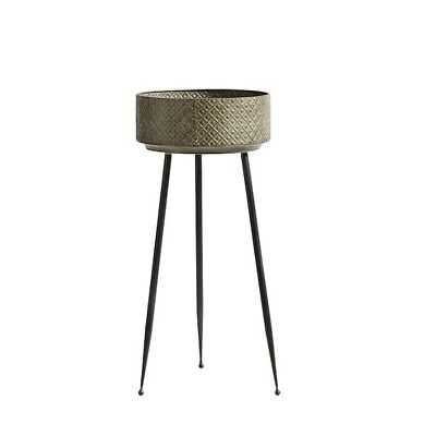 Large Metal Plant Pot On Stand 79 cm Danish Design