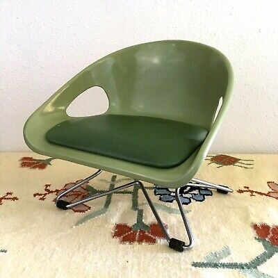 Vintage Mid Century Modern Childs Booster Chair Eames Style Hairpin Legs Mcm