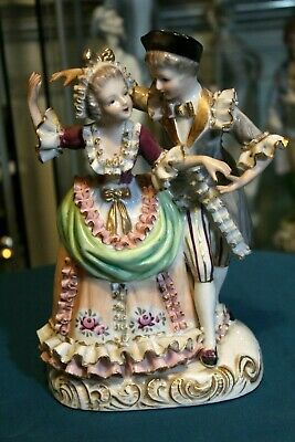 Collectible old Rosenthal porcelain figurine, Dancing couple, Dresden Germany