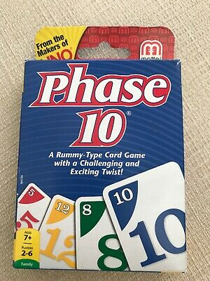 Phase 10 Card Game | Brand New | Mattel | Family Card Game | Makers of UNO