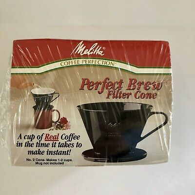 Melitta #2 Black Cone Filter Pour-Over Coffee Maker PERFECT Brew Style NEW