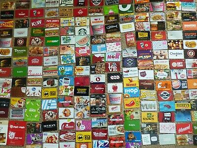 Gift Card - LOT of 201 Cards - Collectible /No Value - FOOD THEME- Each Pictured