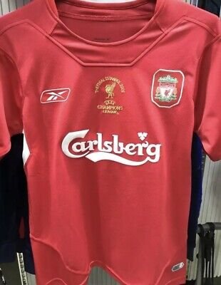 RETRO Liverpool 2005 Shirt Large GERRARD champions league Istanbul Football XL