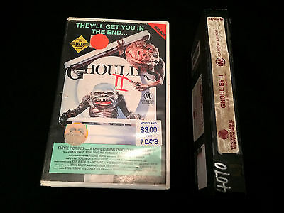 Ghoulies 2 Australian Vhs Video W.a.s.p. Wasp 1987 Vestron