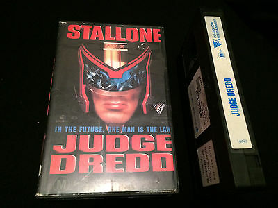 Judge Dredd Australian Vhs Video Sylvester Stallone The Cure
