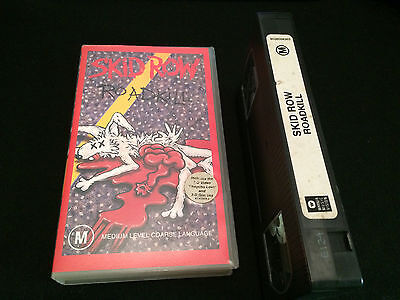 Skid Row Roadkill Australian Vhs Video With 3D Glasses