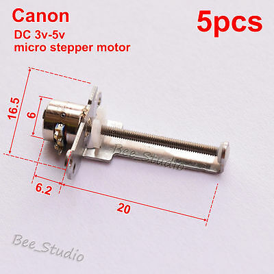 5PCS 6mm DC3v 5v Mini 2-phase 4-wire Stepper Motor Screw Rod Moving Block Slider
